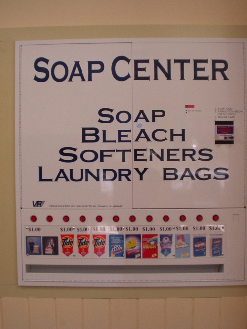 coin operated laundry soap vending machine